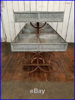 Rare C. 1900 Antique French Produce Cart Retail Store Display Garden