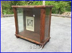 Rare Department Store Antique Brighton Sock Garter Wooden Display Cabinet