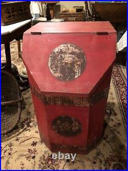 Rare- Early Wooden A& P Coffee (Tea) General Store Display Bin