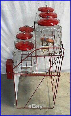 Rare General Store Lance Cracker Jar Display with Honor Box
