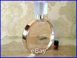 Rare Giant 2 Liters Glass Factice Chanel Chance Eau Vive Store Display Not Perf