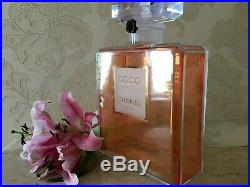 Rare Giant Factice 3,5 Litres Chanel Coco Mademoiselle Store Display (plastic)