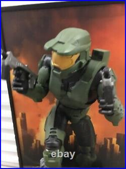 Rare HALO 2 MASTER CHIEF STANDEE GAME STORE DISPLAY XBOX Life Size poster type