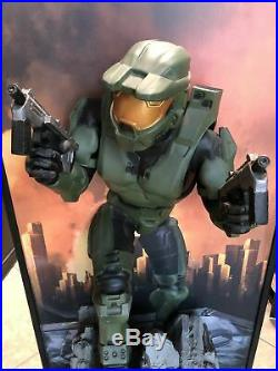 Rare Halo 2 Master Chef Life Size Statue 3ft Wall Decor Store Display