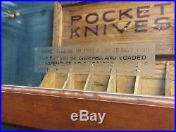 Rare Keen Kutter 11 Foot Display Case With Original Sample Tools