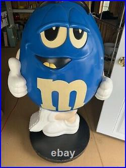 Rare LARGE Blue M&M's Store Display Wheels 4' Tall Metal Base