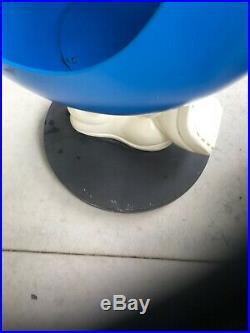 Rare LARGE Blue M&M's Store Display Wheels 4' Tall Metal Base-Pick Up