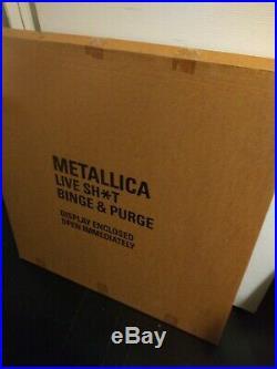Rare METALLICA record store promo BINGE & PURGE Huge Cardboard Display poster