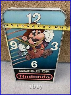 Rare Nintendo NES Vintage Clock Store Display Sign Super Mario Bros. 2 Game