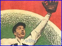 Rare ORIGINAL 1937 DiMaggio Wheaties Store Display Sign Yankees Baseball Vintage