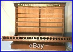 Rare Oak Country / General Store Merrick Thread Spool Display Cabinet