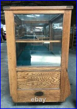 Rare Oak Sherer Country Store Showcase / Humidor with a Seed Cab. Display, 1920's