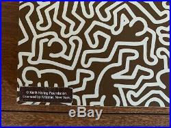 Rare Original KEITH HARING and COACH Brown Shelf STORE DISPLAY Art