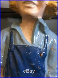 Rare Original VTG Dutch Boy Paints Paper Mache Store Display Old King Cole 30