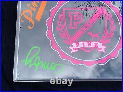 Rare Pink By Victoria Secret Store Display Plexiglass Dog University Sign A
