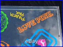 Rare Pink By Victoria Secret Store Display Plexiglass Dog University Sign B