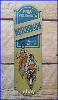 Rare Plaque De Propreté Hutchinson tôle no plaque émaillée bidon huile garage