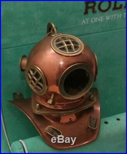 Rare Rolex Watch Deep Sea Diving Helmet/1970 Store Display/5513/1680/nr