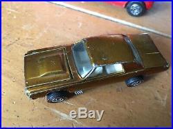 Rare Store Display redline Custom T-bird 1967 USA Gold No Black Roof White Intr