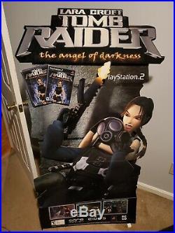 Rare Tomb Raider Playstation Store Display Standee