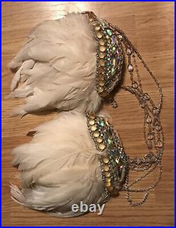 Rare Victoria Secret Costume Angel Feathers Shoulder Pad Wings Store Display