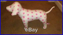 Rare Victoria Secret PINK dog soft body store display prop VS puppy polka dot