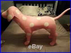 Rare Victoria Secret Pink Life Size Display Dog