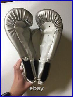 Rare Victoria Secrets Sport Boxing Gloves VSX Display Prop Gray Bag Workout