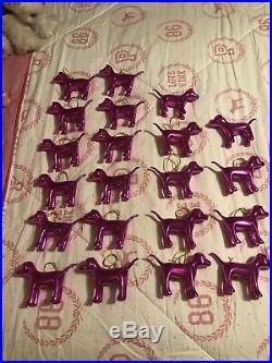 Rare Victorias Secret PINK Store Display 21 Dog Ornaments Christmas Prop
