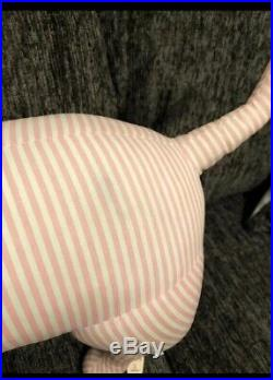 Rare Victorias Secret Pink Store Display Prop Giant Dog Medium Soft Body Stripe