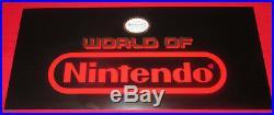 Rare Vintage 1980's NOS WORLD OF NINTENDO Store Display Sign 15 x 6 3/4