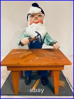 Rare Vintage David Hamberger Store Display Animated Mechanical Elf Christmas