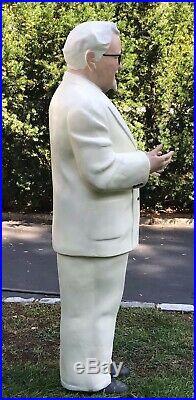 Rare Vintage Full Size Colonel Sanders Kfc Store Display Statue
