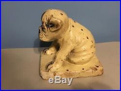 Rare Vintage Old Country Store Watta Pop Chalkware Dog Lollipop Display