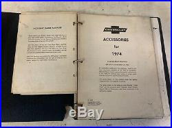 Rare Vintage Salesman Chevy Accessories Selling Record Dealer Book Collection