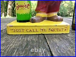 Rare Vintage Squirt Soda Bottle Holder Store Display Advertising Sign lil Squirt