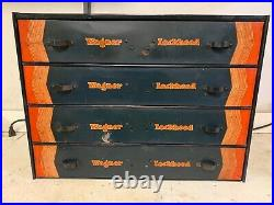 Rare Vintage Wagner Lockheed Parts Tool Drawers Cabinet Box Tray Original 920