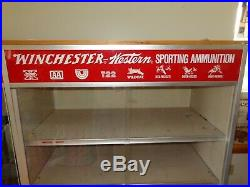 Rare Winchester 1950s 1960s vintage store display cabinet