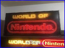 Rare World Of Nintendo Fiber Optic Store Sign Display Nes M36