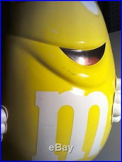 Rare Yellow M&M Collectible Candy Store Display With Wheels 42 Tall