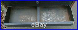 Rare old hardware store display sign cabinet advertising Utica Drop Forge tools