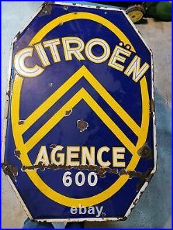 Rare plaque émaillée Citroën 1920-1930