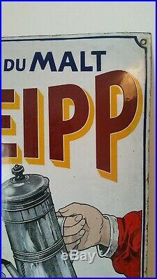 Rare plaque émaillée bombée kneipp enamel plate french vintage glazed
