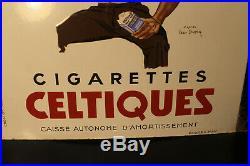 Rare plaque émaillée tabac cigarettes celtiques et balto superbe état