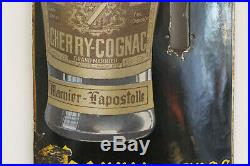 Rare thermomètre plaque émaillée cognac grand marnier