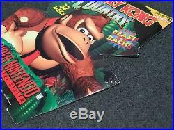 SNES Super Nintendo DONKEY KONG COUNTRY Store Display Sign Promo RARE