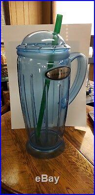 STARBUCKS Coffee Blue Rocket Rare Store Display Mug GIANT