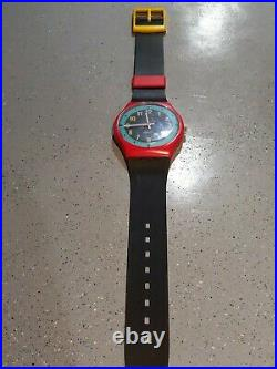 SWATCH watch VINTAGE Wall Clock Watch 80s store display sign rare 7 feet! Look