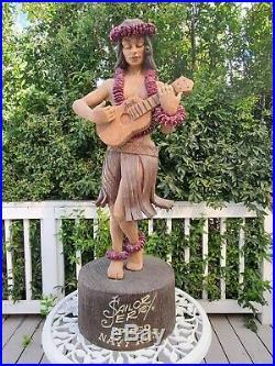 Sailor Jerry Spiced Rum 42 Hawaiian Hula Girl Liquor Store Tiki Display RARE