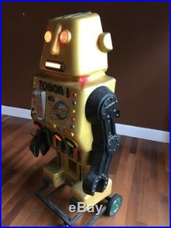 Scarce 1970s Tobor The Great Robot Store Display Light Up Coin Operate Rare 5ft
